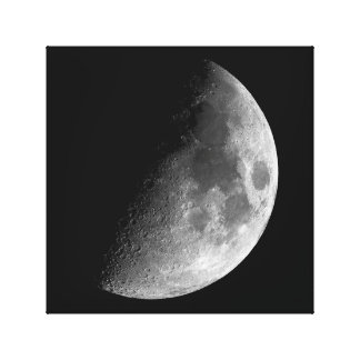 PHASES OF THE MOON SERIES, HALF MOON. PHOTO 2 OF 5 CANVAS PRINT