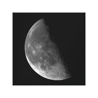 PHASES OF THE MOON SERIES, HALF MOON. PHOTO 4 OF 5 CANVAS PRINT