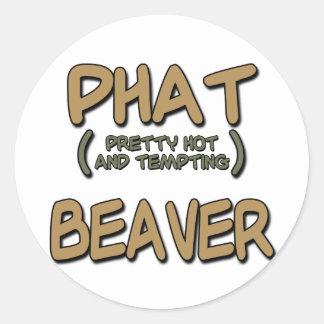 Phat Beaver Classic Round Sticker
