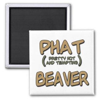 Phat Beaver Fridge Magnets