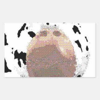 phat cow rectangular sticker