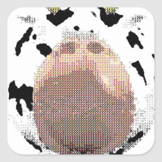 phat cow square sticker