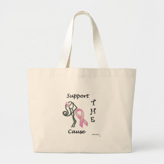 Phat Diva Breast Cancer Cause Large Tote Bag