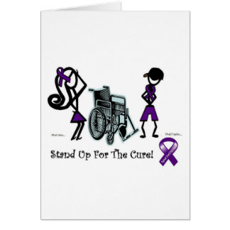 phat diva phat franky - cure paralysis purple greeting cards