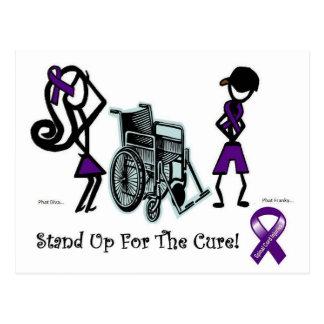 phat diva phat franky - cure paralysis purple postcards