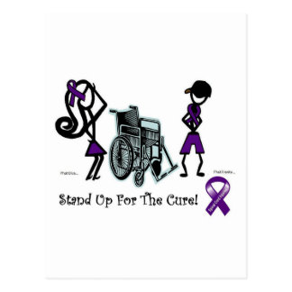 phat diva phat franky - cure paralysis purple post cards