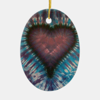 Phat Dyes - Heart - Tie Dyes Ceramic Ornament