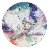 Phate-Vu Verian-The Great White Owl Dinner Plate