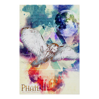 Phate-Vu Verian-The Great White Owl Poster