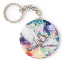 Phate-Vu Verian-The Great White Owl-Print Keychain