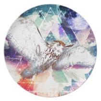 Phate-Vu Verian-The Great White Owl-Print Melamine Plate