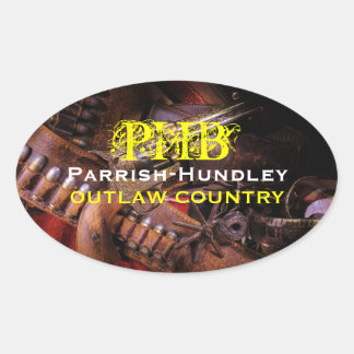 PHB Outlaw Country Oval Stickers