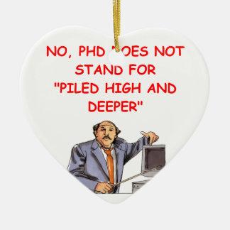 phd christmas ornament