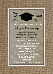 Doctorate graduation invitations announcements zazzle phd doctoral graduation announcement invitation filmwisefo