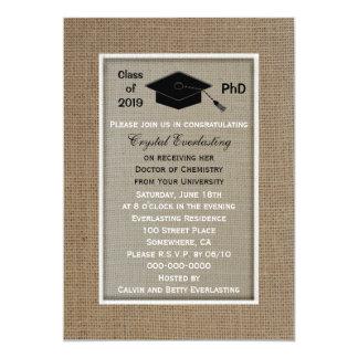 PhD Doctoral Graduation Announcement Invitation Personalized Invitations