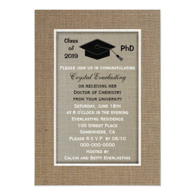 Phd Doctorate Graduation Invitation Metallic Zazzle Com