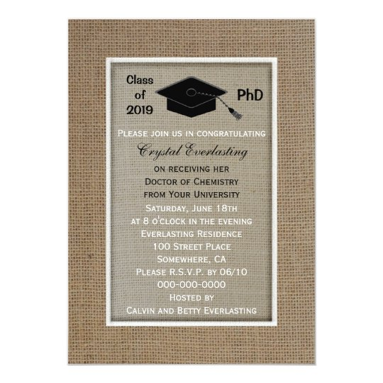Phd doctoral graduation announcement invitation zazzle phd doctoral graduation announcement invitation filmwisefo