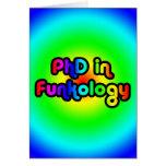 PhD en arco iris del miedo del chiste de la divers Tarjetón