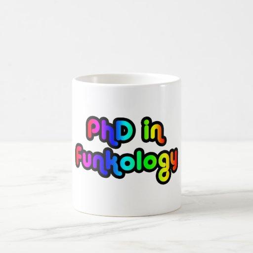 PhD en arco iris del miedo del chiste de la divers Tazas De Café