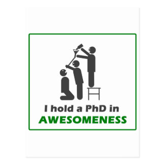 PhD en Awesomeness Postal