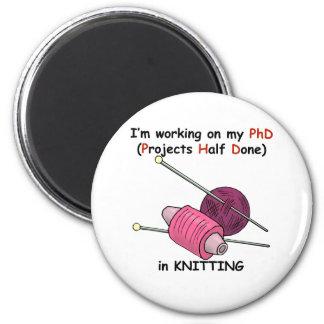PhD en hacer punto Imán Redondo 5 Cm
