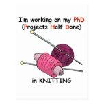 PhD en hacer punto Tarjeta Postal