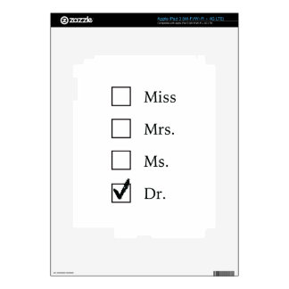 PhD gifts for women Decal For iPad 3