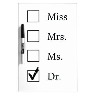 PhD gifts for women Dry-Erase Board
