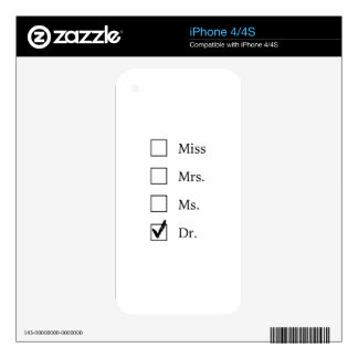 PhD gifts for women iPhone 4S Skins