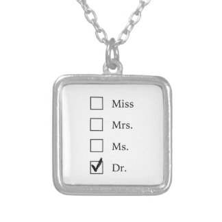 PhD gifts for women Square Pendant Necklace