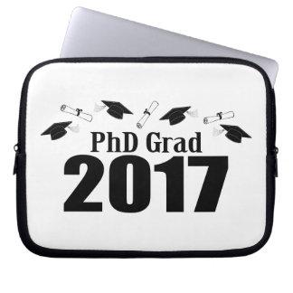 PhD Grad 2017 Caps And Diplomas (Black) Laptop Sleeve