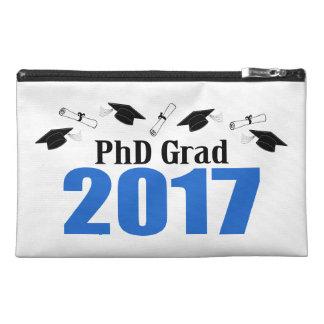 PhD Grad 2017 Caps And Diplomas (Blue) Travel Accessory Bag
