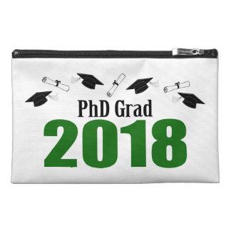 PhD Grad 2018 Caps And Diplomas (Green) Travel Accessory Bag