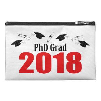 PhD Grad 2018 Caps And Diplomas (Red) Travel Accessory Bag