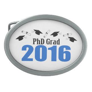 PhD Grad Class Of 2016 Caps And Diplomas (Blue) Belt Buckle