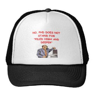 phd trucker hat