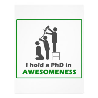 PhD in Awesomeness Flyers