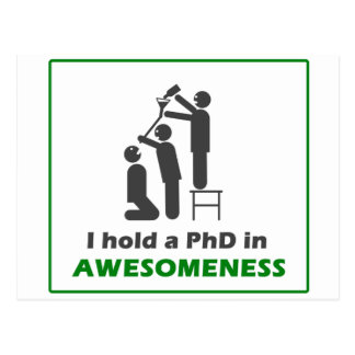 PhD in Awesomeness Postcard
