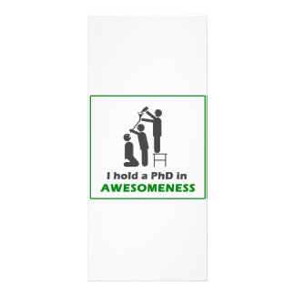 PhD in Awesomeness Rack Card