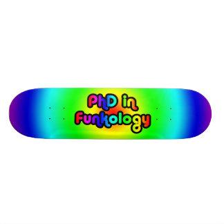 PhD in Funkology lol Fun Joke Funk Rainbow Skateboard Deck