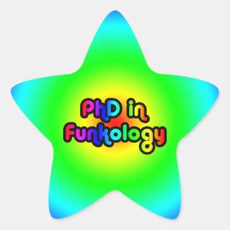PhD in Funkology lol Fun Joke Funk Rainbow Star Sticker