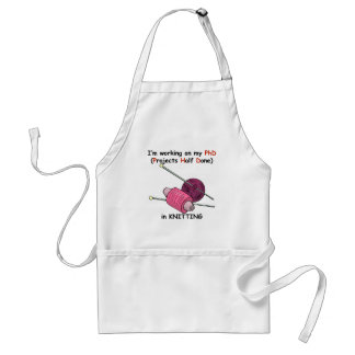 PhD in Knitting Adult Apron