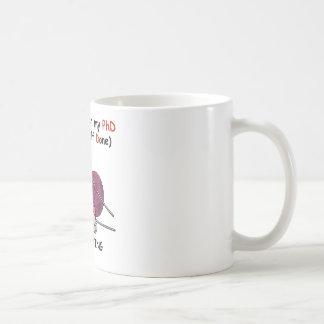 PhD in Knitting Classic White Coffee Mug