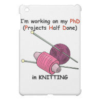 PhD in Knitting iPad Mini Case