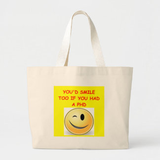 phd joke canvas bag