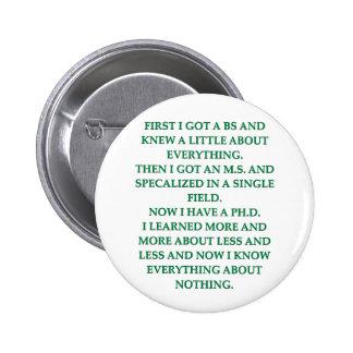 phd joke buttons
