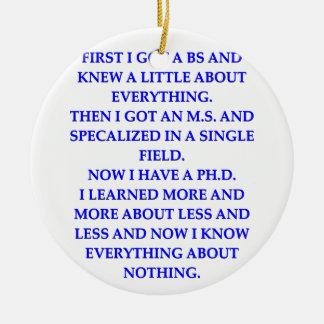 phd joke christmas ornaments