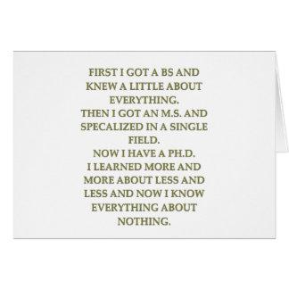 phd joke greeting card