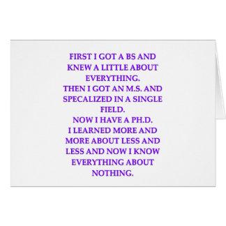 phd joke greeting cards