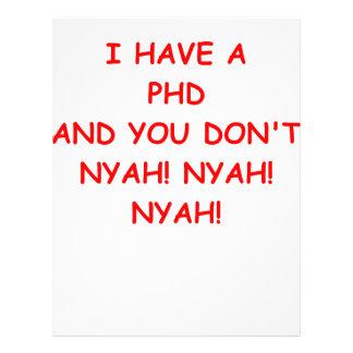 PHD joke Letterhead